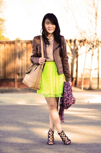 daily disguise shirt jacket skirt bag shoes scarf