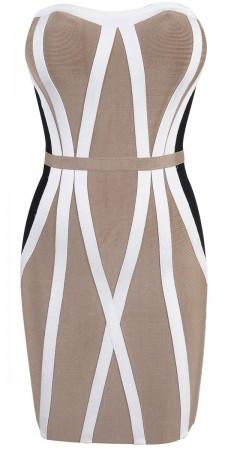 Cream hour glass bandage dress – starrsboutique