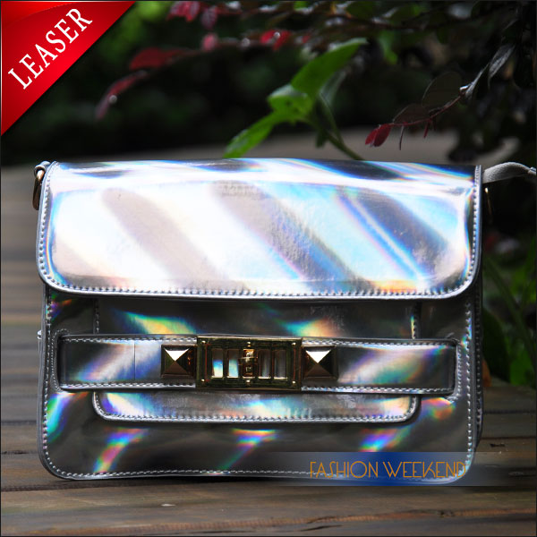 Aliexpress.com : Buy 2014 Promotional Silver Laser Bag Shoulder Colorful Small Hologram Messenger Bag For Women Fashion Metal Holographic Bag Girl from Reliable bag crystal suppliers on FASHION WEEKEND