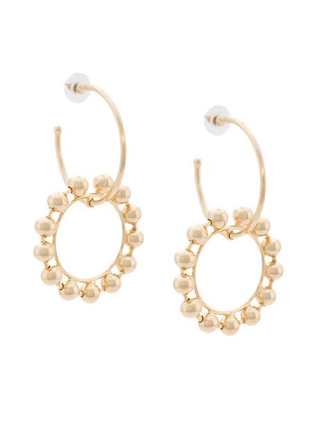 dannijo women earrings gold grey metallic jewels