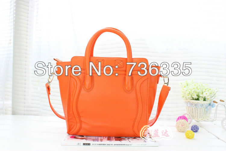 Free shipping  2013 on selling pu smile a star like portable oblique cross bag handbag orange