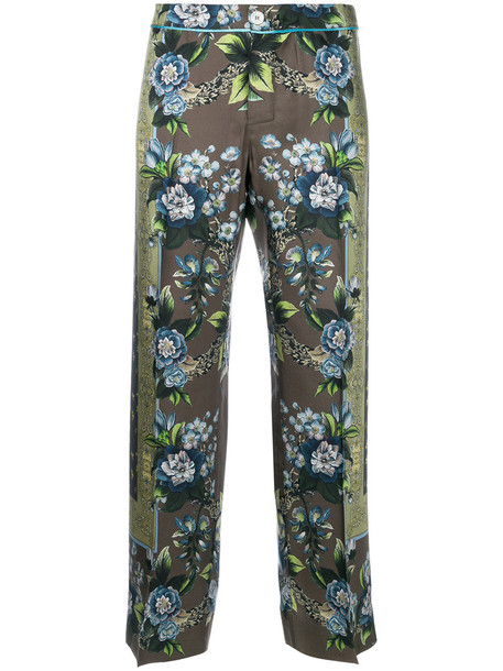 F.R.S For Restless Sleepers women silk green pants