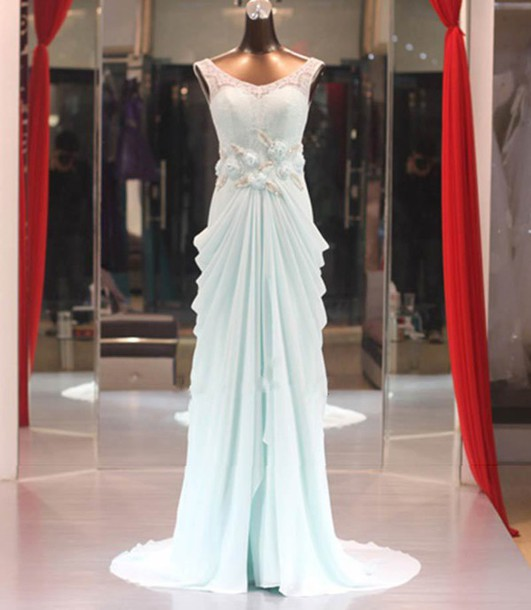 dress prom dress long dress light blue prom dress light blue dresses