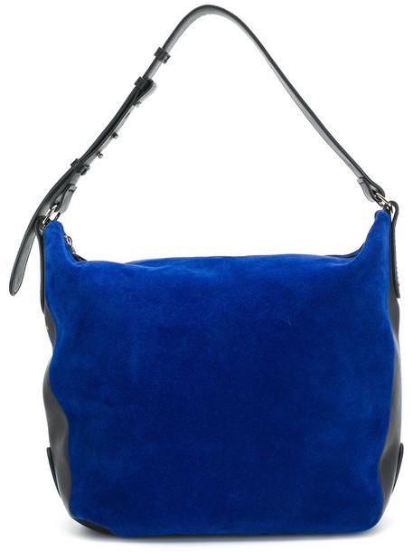 women bag blue suede