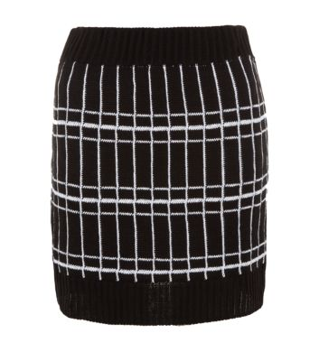 Cameo Rose Monochrome Check Tube Skirt