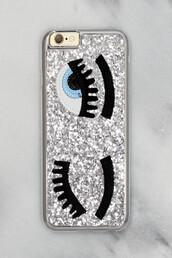 phone cover,free vibrationz,glitter,silver,silver glitter,wink glitter
