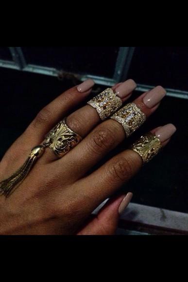 ring nail polish nail accessories nails nail art nude
