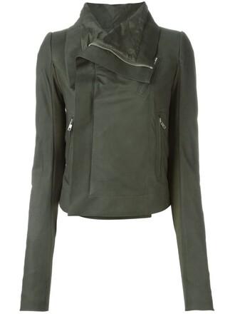 jacket biker jacket green