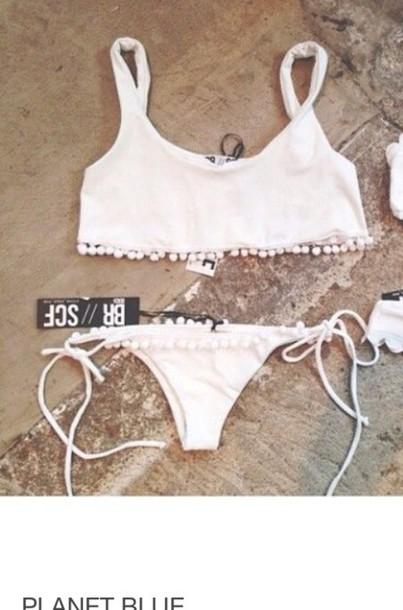 swimwear white flounce br//scf