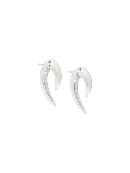 SHAUN LEANE women earrings gold white grey metallic jewels