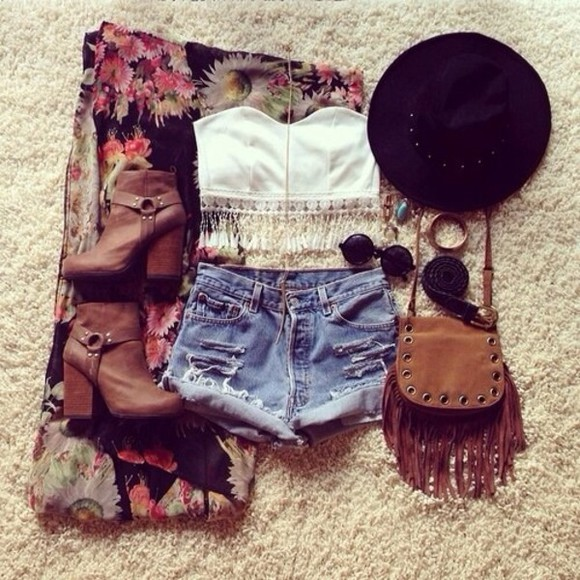 jewels jewelry summer clothes hat shorts tank top crop tops hippie glasses glasses cut off shorts jeans transparent  bag bags shoes sweater summer outfits all cute outfits fashion toast fashion vibe fashion squad style scrapbook flashes of style sunglasses bag