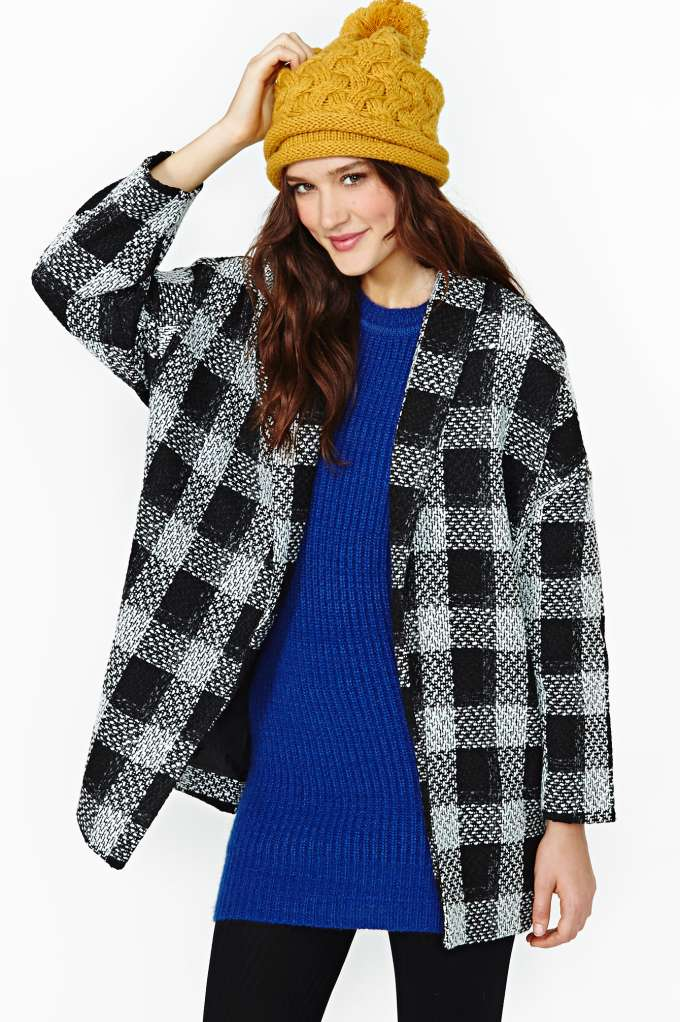 Kissell Plaid Coat at Nasty Gal