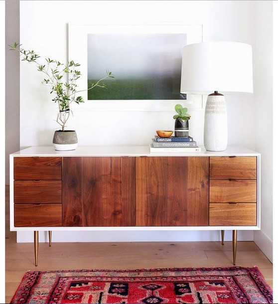 Home Accessory Wood Drawers Wood Modern White Mid Century Style Home Decor  Furniture Table Dresser Cabinet