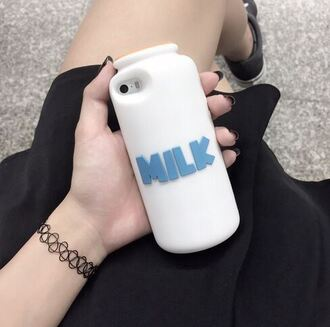 phone cover fashion cute trendy white kawaii milk bottle iphone case teenagers milk it girl shop