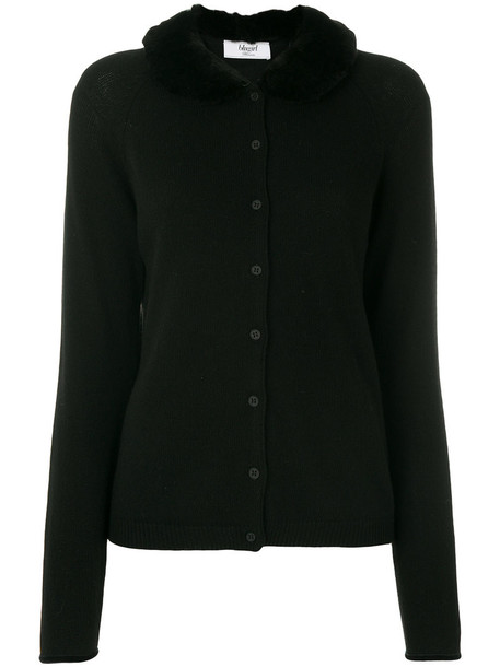Blugirl cardigan cardigan fur women black wool sweater