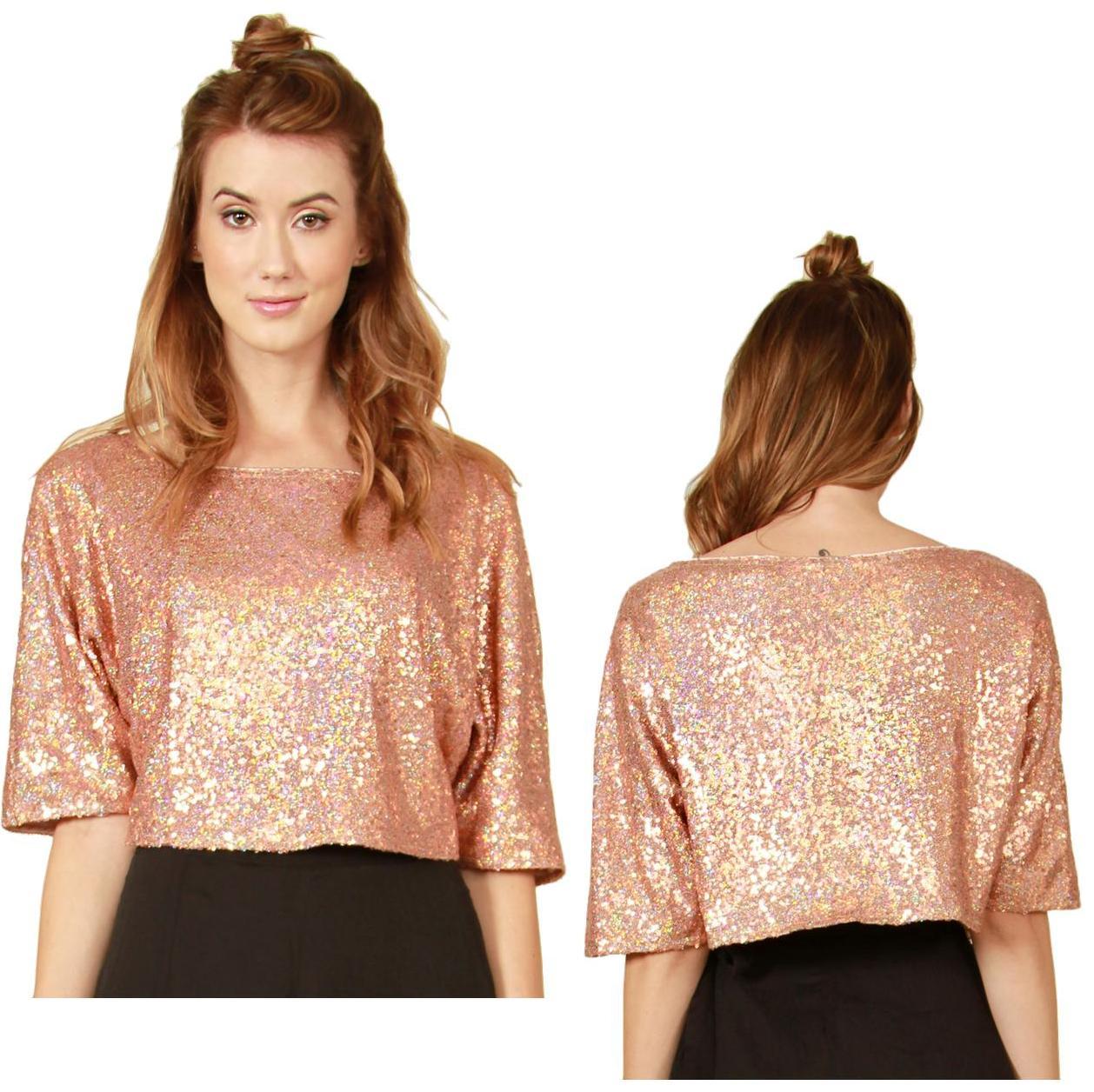 Copper sequin top · trendyish · online store powered by storenvy