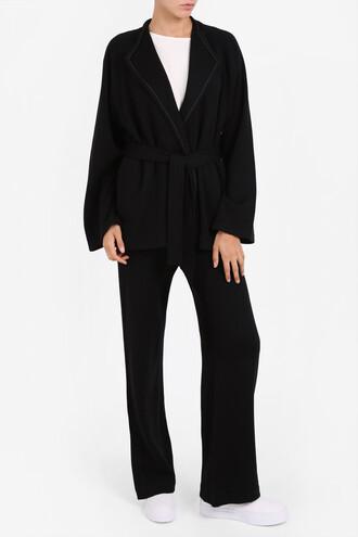 jacket women soft black