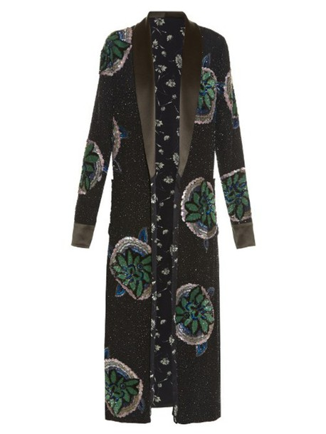 ETRO coat embellished black