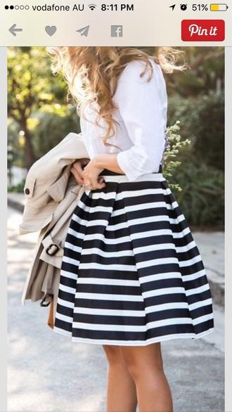 skirt mid skirt stripes set summer