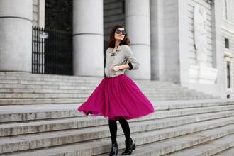 frassy blogger jacket tulle skirt pink skirt circle skirt