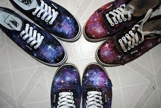 shoes vans galaxy print diy