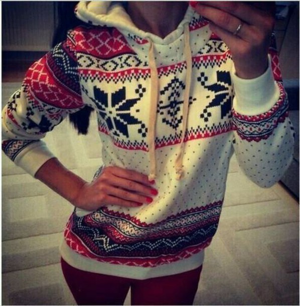 jacket christmas hoodie cardigan sweater navy christmas sweater red navy blue sweater idk fall outfits winter outfits cute casual fashion style hoodie long sleeves winter sweater printed sweater