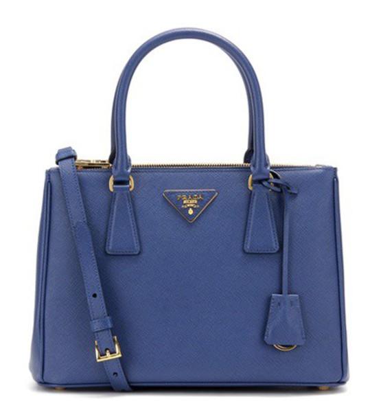 Prada bag shoulder bag leather blue