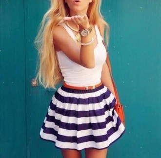 skirt skater skirt skater fashion style girly stripes striped skirt obsession