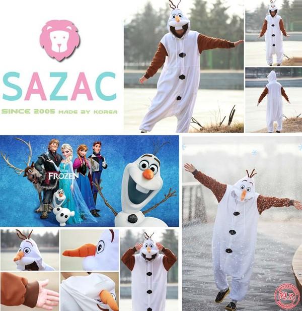 pajamas olaf onesie disney frozen costume