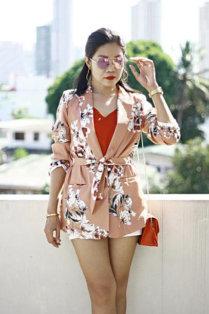 jacket kimono floral jacket mini shorts crossbody bag zaful