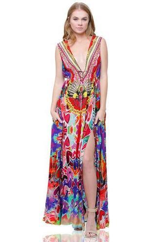 dress parides print maxi dress bikiniluxe