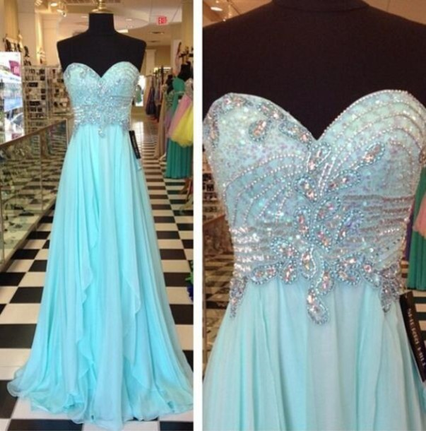 dress blue prom gorgeous