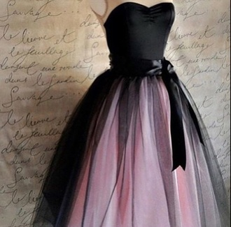 dress black dress pink dress tulle dress