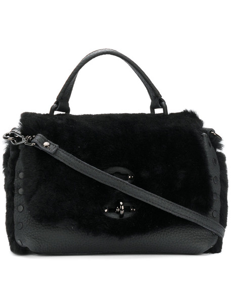 Zanellato fur women bag crossbody bag leather black