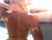 jewels,back,summer,temporary tattoo,tattoo,fashion,style,spring break,gold tattoos