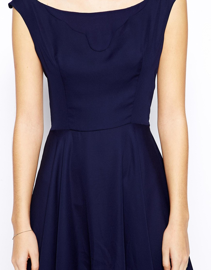 Love Skater Dress with Bardot Neck at asos.com