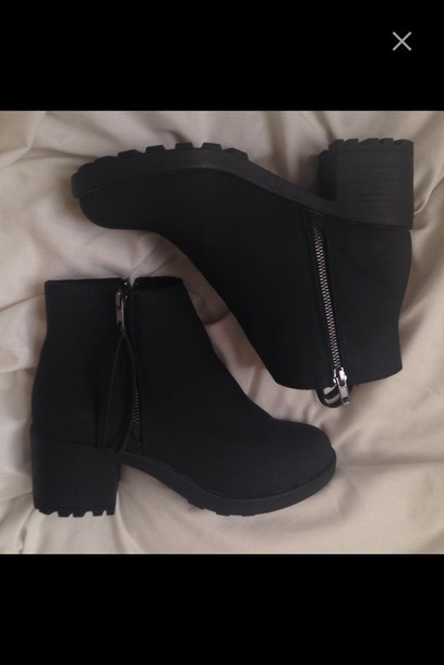 shoes black boots chelsea boots