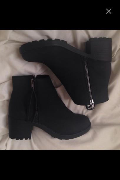 shoes black boots chelsea boots