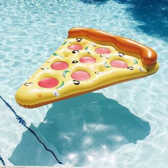 home accessory pool accessory pizza summer swimwear pool beach house air mattres pizza pool swim summer funy float funny girl cool sea swimming amazing style swimming float leggings yellow