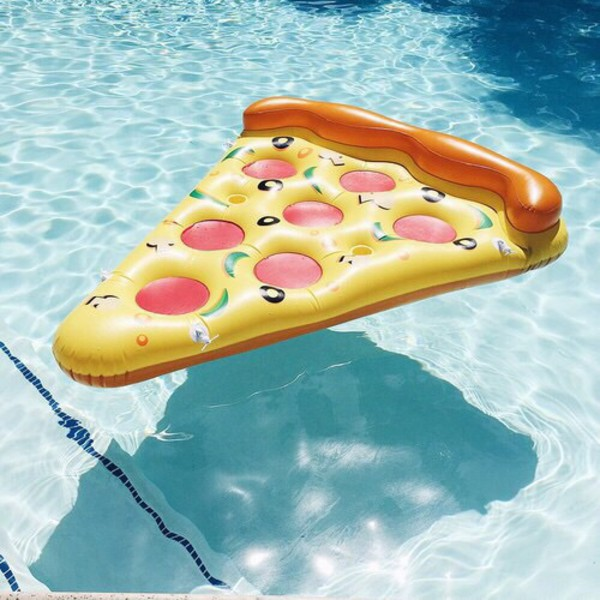 Pizza Slice Inflatable Pool Float in Water u0026 Pool Toys