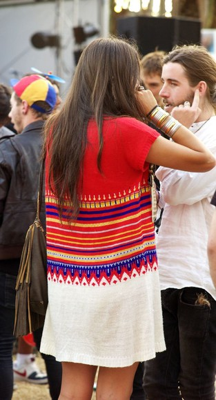 dress tribal summer dress boho festival colorful