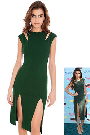 Cut Out Double Split Fitted Dress
