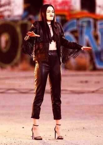 leather jessie j black leather jacket black jacket