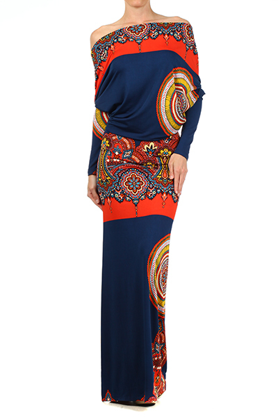 Royal Maxi Dress / klassythreadz