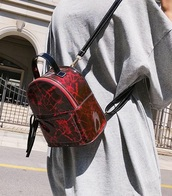 bag,girly,girly wishlist,mini,mini bag,backpack,red,marble
