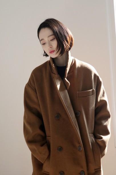 Coat Brown Over Coat Outerwear Coat Style Coatfashion
