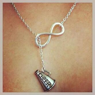 jewels infinity necklace cheerleading infinity
