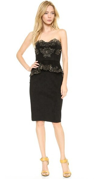 dress cocktail dress suede black
