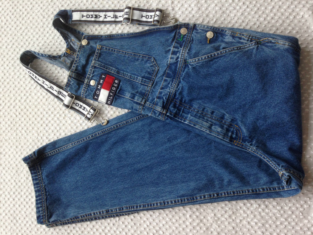 differently choose clearance enjoy free shipping MEN'S TOMMY HILFIGER BIB OVERALLS~SMALL~W 36 X L 30.5~MED. BLUE DENIM~GREAT  COND