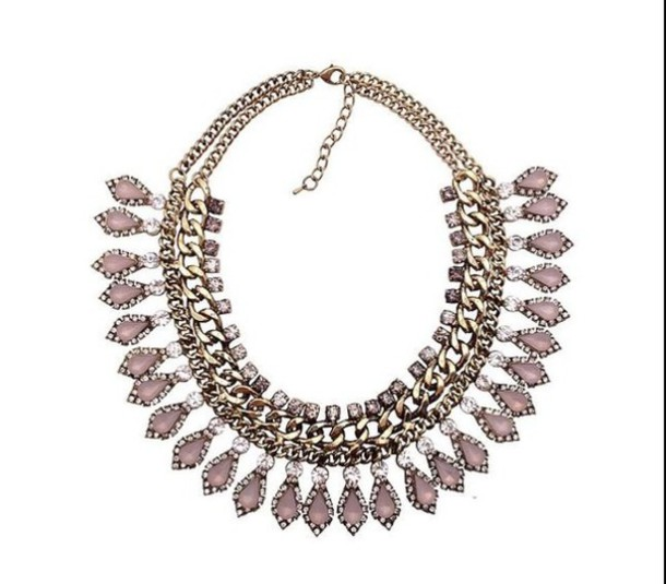 jewels rose gold statement necklace gold chain necklace gold jewelry rose gold jewelry fashion jewelry